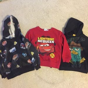 Lot of boys character hoodies, 5T